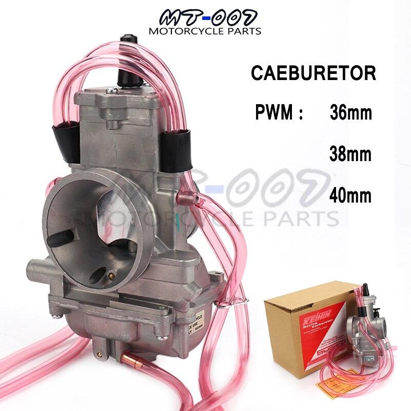 PWM 36mm 38mm 40mm Carburateur Carb Pour keihin 200cc-400cc 2 t 4 t Racing PWM38 Carb Scooter cyclomoteur ATV Moto Motocross