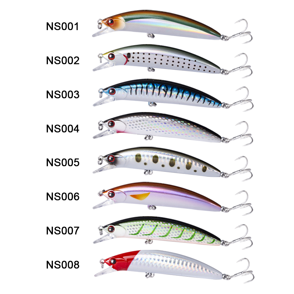 Image 5 - NOEBY Sinking Minnow ABS Lure 90mm/29g Bass Pike Walleye Trout Plastic Fishing Wobbler Hard Baits Swimbaits Artificial Lure Sea-in Fishing Lures from Sports & Entertainment
