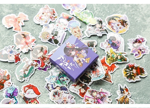 40PCS-box-Color-Cute-Marble-Paper-Sticker-Decoration-Decal-DIY-Album-Scrapbooking-Seal-Sticker-Stationery-Gift(18)