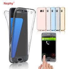 Case untuk Samsung Calaxy A3 A5 A7 J1 J3 J5 J7 2015 2016 2017 J4 J6 J8 A8 Plus 2018 360 Derajat Penuh Silicon Soft Back Cover Casing(China)