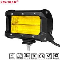 VISORAK 5 Inch 84W LED Work Light Bar Foglight Flood 12V 24V LED Strip Bar For