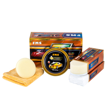 Car Carnauba Wax Kit Clear Scratch Repair Polishing Hard Auto Remover Prevent Aging Glazing Coat Free 5-in-1 Paint Care