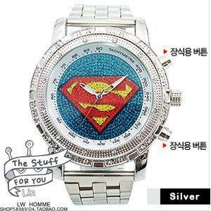 free shipping 2013 fashion Quartz watch/wholesale fashion superman watches 10pc/lot -Best sell watch
