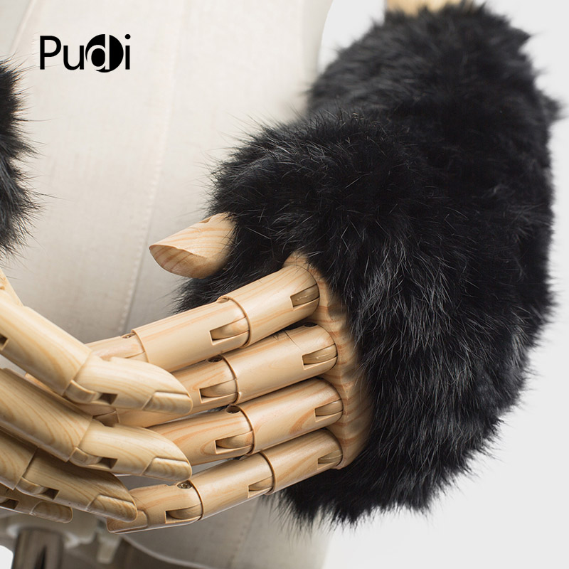 Back To Search Resultsapparel Accessories Pudi Gf705 Hand Made Knitted Winter Fur Fabric Real Rabbit Fur Glove Gloves Mittens Mit Handwear