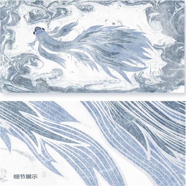 . US  22 32 46  OFF Custom 3 d Modern Wallpaper Desktop 3d Home Wallpaper Hd  Texture Blue Wallpaper for Walls Watercolor Goldfish Elegant Room Decor in