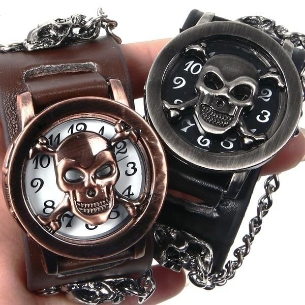 Erkek Kol Saati Relogio Masculino Men's Skull Watch Clamshell Creative Wrist Watch Men Watch Fashion Men Bracelet Watches Clock