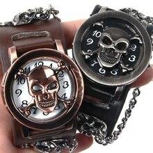 Erkek kol saati relogio masculino männer Schädel Uhr Clamshell Kreative Handgelenk Uhr Männer Uhr Mode Männer Armband Uhren Uhr