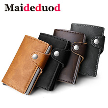 Maideduod 2018 New Automatic Credit Card Holder Business Men Holders Fashion RFID Cases Aluminium Bank Wallets