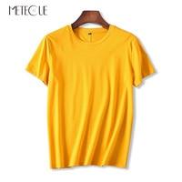 All Match 80 Double Sided Mercerized Cotton Women T Shirt Casual Skin Friendly Short Sleeve T