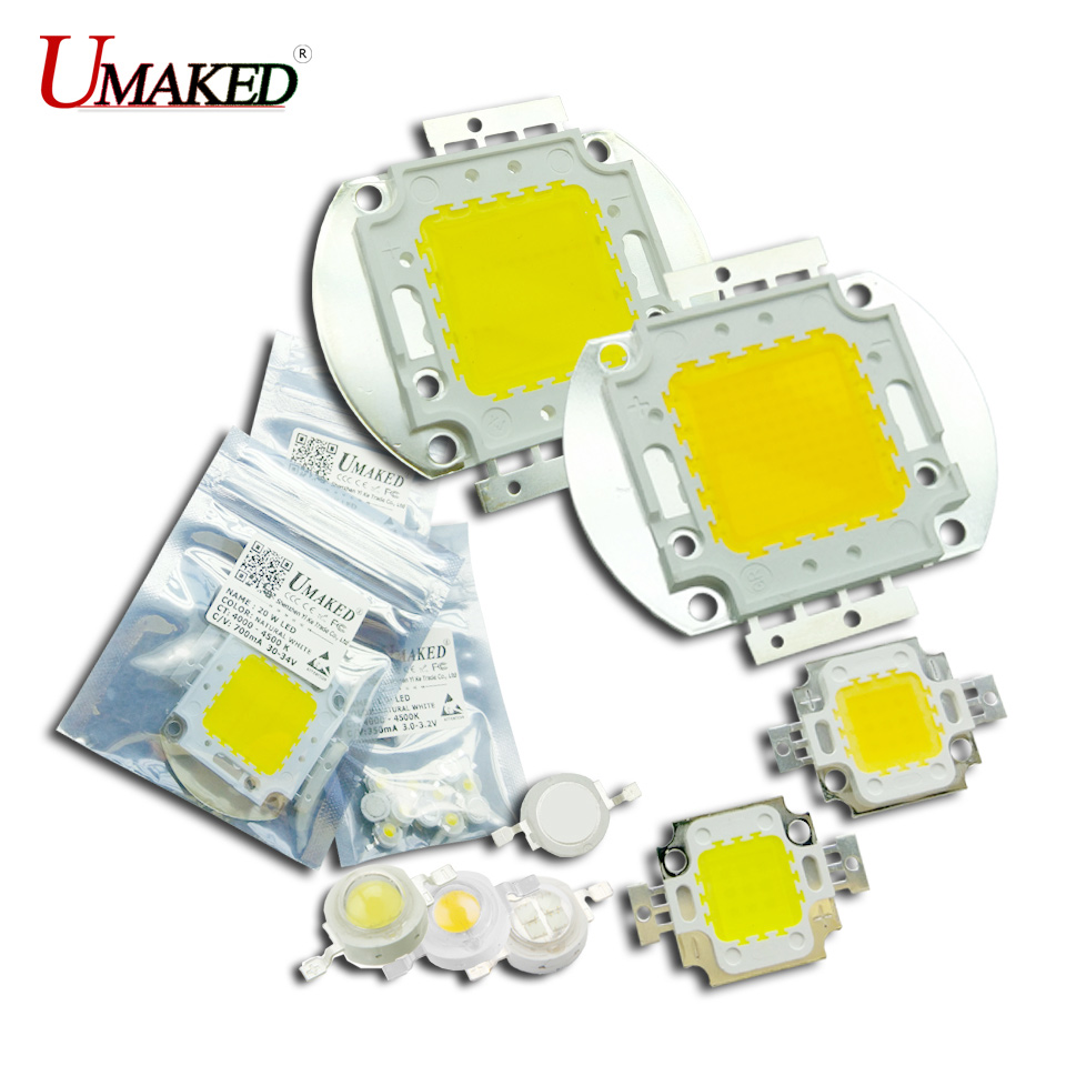 UMAKED High Power LED SMD COB Bulb Lamp Chip 1W 3W 5W 10W 20W 30W 50W 100W Natural White 4000-4500K 1 3 5 10 20 30 50 100 Watt