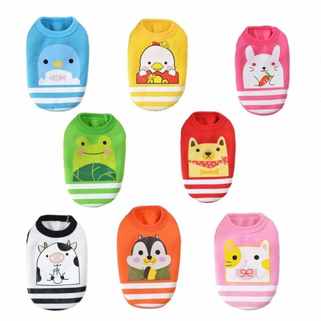 860ce3171945 XXXS/XXS/XS New Cute Cartoon Animal Stripe Puppy Sweater Baby Pet Clothes  Teacup Dogs Clothing