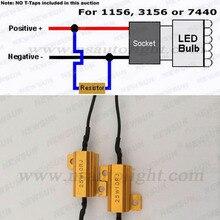 2 шт/комплект 1156 Canbus свет безошибочную нагрузочного резистора Авто accessries предупреждение балласта Canceller Декодер для 1156 3156 7440