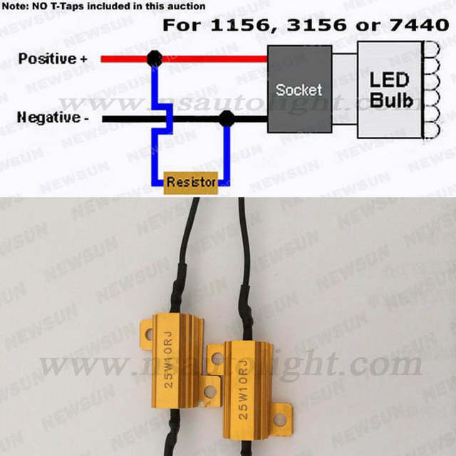 2 pcs/lot 1156 canbus LED Light Error Free Load Resistor Auto Accessries  Warning ballast Canceller Decoder for 1156 3156 7440
