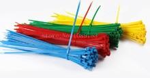 """200 шт. 4 цвет 6 """" дюймовый 2 X 150 ( мм ) красочные self-пластиковые самоконтрящаяся пластиковых почтового индекса кабель микро-цикла связей"""
