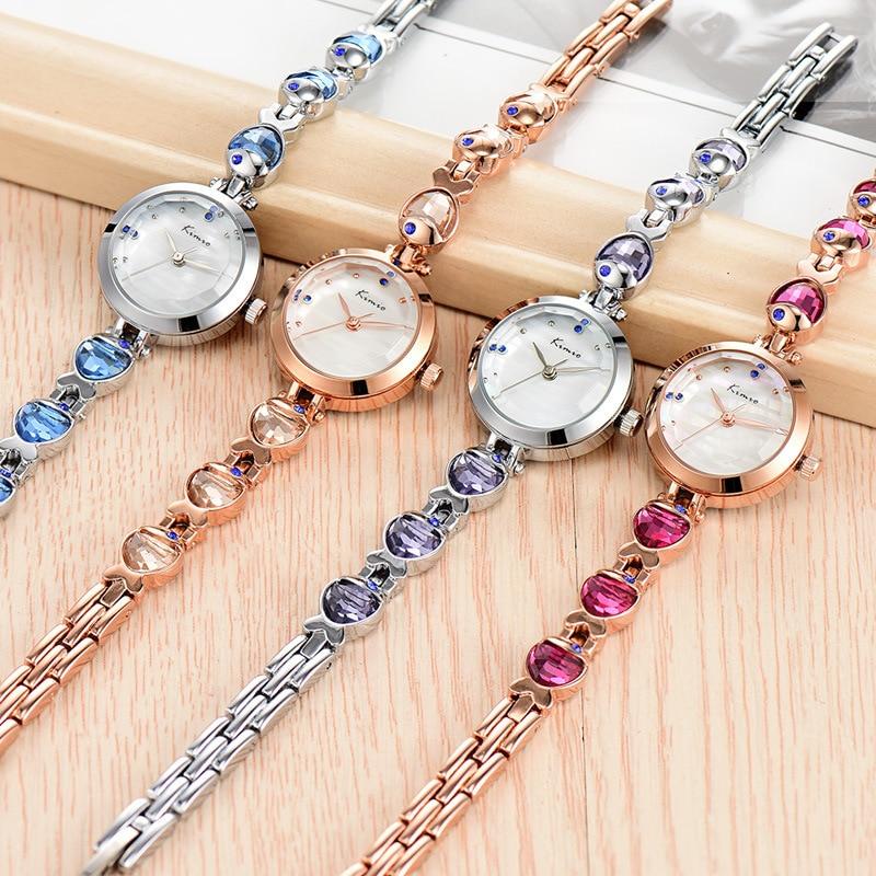 KIMIO Water Fish Gem Crystal Rose Gouden Armband Horloge Dames Luxe - Dameshorloges - Foto 4