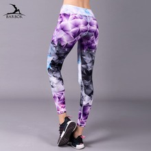 Купить с кэшбэком BARBOK Yoga Leggings Training Gym Sport Women Fitness Push Up Tights Slim-fit Running Exercise Jogging Workout Seamless Pants