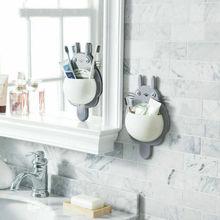 Новая настенная подставка для зубных щеток Totoro, подставка для зубной пасты, подставка для зубной пасты, зубная щетка и держатели зубной пасты