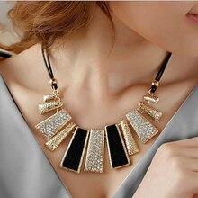 2016 Women Fashion Jewelry Pendant Chain Crystal Choker Chunky Statement Bib Necklace