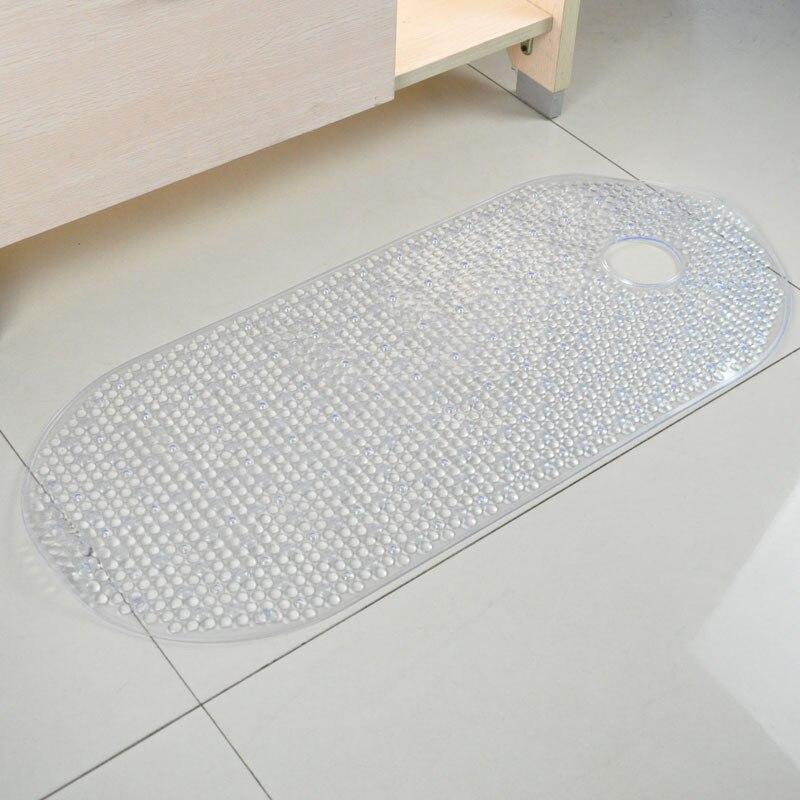 Oversized Small Dots Bath Mats Sucker Oval Pebble Foot Pad Foot