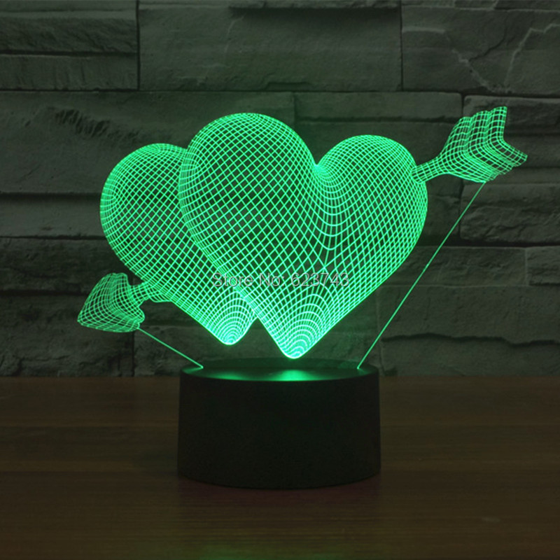 The Arrow of Love 3D LED Night Light (2)