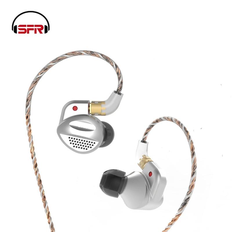 SENFER MT100 1BA Avec Orthodynamic Planaire À Membrane Hybride Unité Dans L'oreille Écouteurs HIFI Écouteurs En Métal Amovible Détacher MMCX Câble