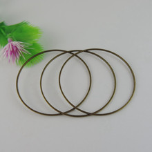 Wholesale 25 Pcs Bronze Copper Round Circle Bracelets Necklace Earrings Jewelry Making Accessory Components Connectors