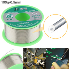 100g 0.5mm-1.0mm 99.7% Sn 0.03% Cu Environmental-friendly Lead-free Rosin Core Solder Wire with Flux and Low Melting Point цена 2017