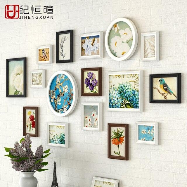 Moderne Multi Farbe Wand Foto Rahmen Kombination Einfache Foto ...