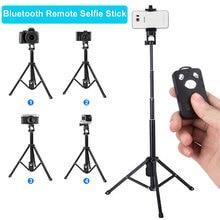 3 в 1 беспроводной Bluetooth селфи палка для iPhone 8X7 6s Plus складной ручной монопод затвора дистанционного Выдвижная мини штатив
