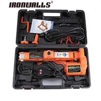 Ironwalls Portable 12V Car Jack 3Ton Electric Jack Auto Lift Scissor Jack Lifting Machinisms Lift Jack Muti Function