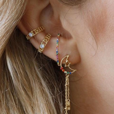 Купить новые модные длинные геометрические серьги роскошные золотистые
