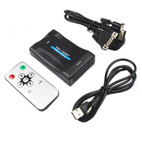 LNOP Laptop VGA To Scart AV Video Converter With Audio VGA In Scart Out With Power