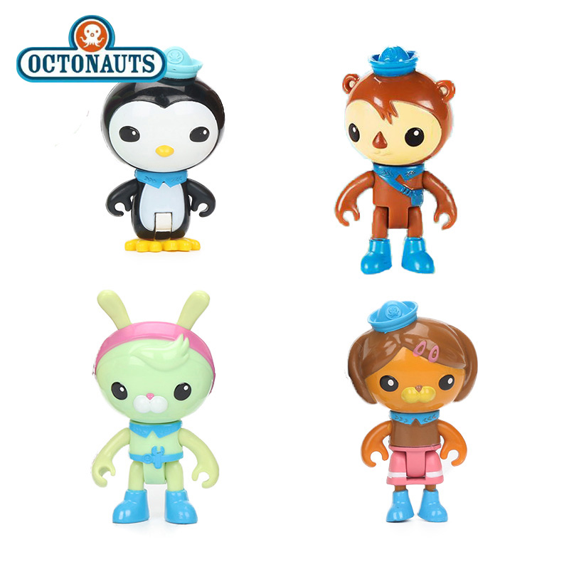 Original 4pcs/set Octonauts Crew Pack Peso Shellington Tweak Dashi PVC Action Figure Octonauts Captain Barnacles Model Dolls Toy 8pcs set the octonauts cartoon action figures kids toys captain barnacles medic peso model children birthday gifts with box