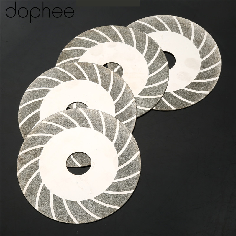 Dophee Carbon Steel Glass Ceramic Granite Diamond Saw Blade Disc Cutting Wheel Tool For Angle Grinder Grit#100 100mm/3.94