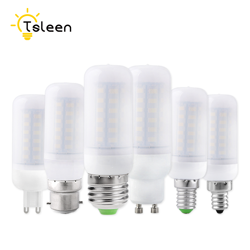 TSLEEN Free Shipping! 10PCS Bombillas LED Bulb E27 E14 SMD5730 G9 LED Lamp 36 48 56 69 72leds 220V Lampada LED Light Chandelier