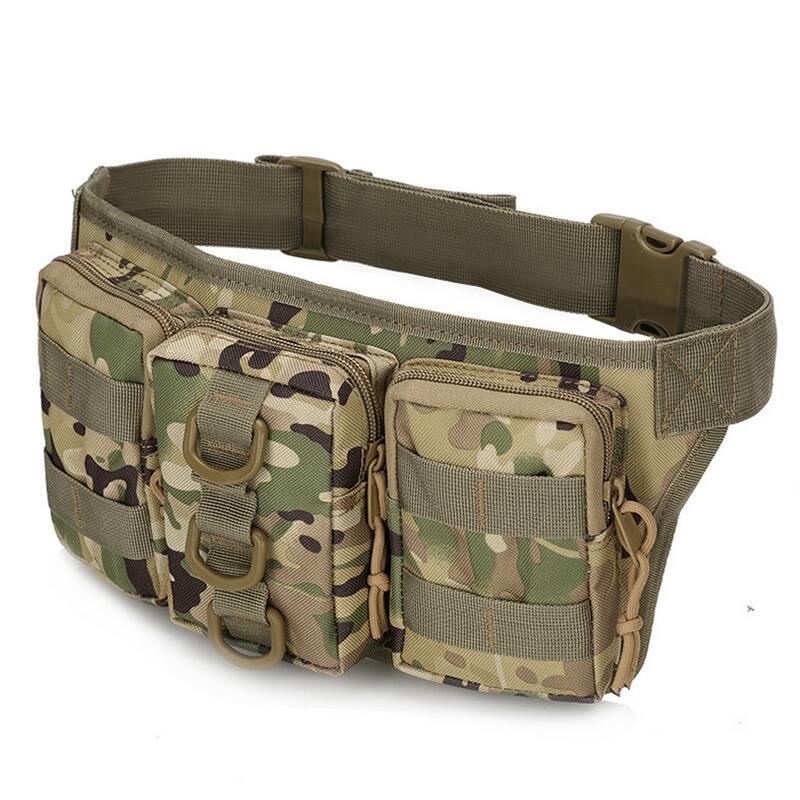 Portable Waist Belt Bag military tactics camouflage  waterproof waist bags Belt outdoor riding mountaineering sports bag pack