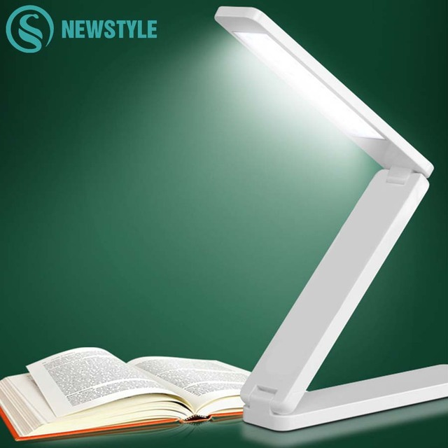New Folding USB Led desk lamp Eye-Protection Adjustable Rechargable Portable Flexible Mini Reading Study Book Table  Light