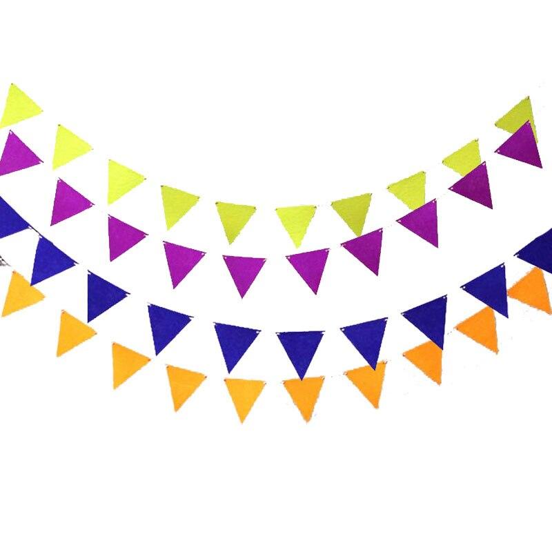 2,5 м Малый многоцветный Гарланд 12 шт. флаги нетканый Баннер Вымпел овсянка душа ребенка день рождения Свадебная вечеринка украшения ...
