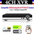 NEUE 4CH Kanal 1080 P P2P CCTV Video Recorder NVR AHD TVI CVI DVR + 1080N 5 in  1 überwachung AHD/Analog/Onvif IP/TVI/CVI Kamera|Überwachungsvideorekorder|Sicherheit und Schutz -