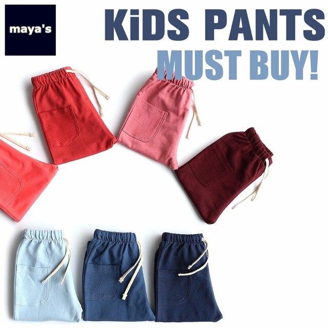 Mayas niños Color sólido verano Pantalones Casual pantalones para ...