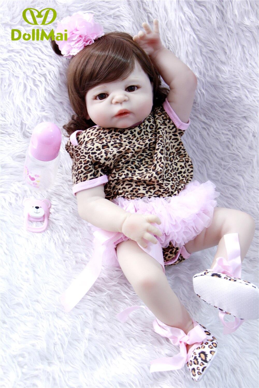 Silicone reborn bébé poupées pour enfant cadeau 23