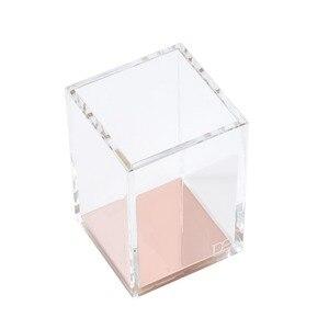 Image 2 - Премиум акриловый и розовое золото карандаш/держатель для ручек Настольный набор офисные аксессуары