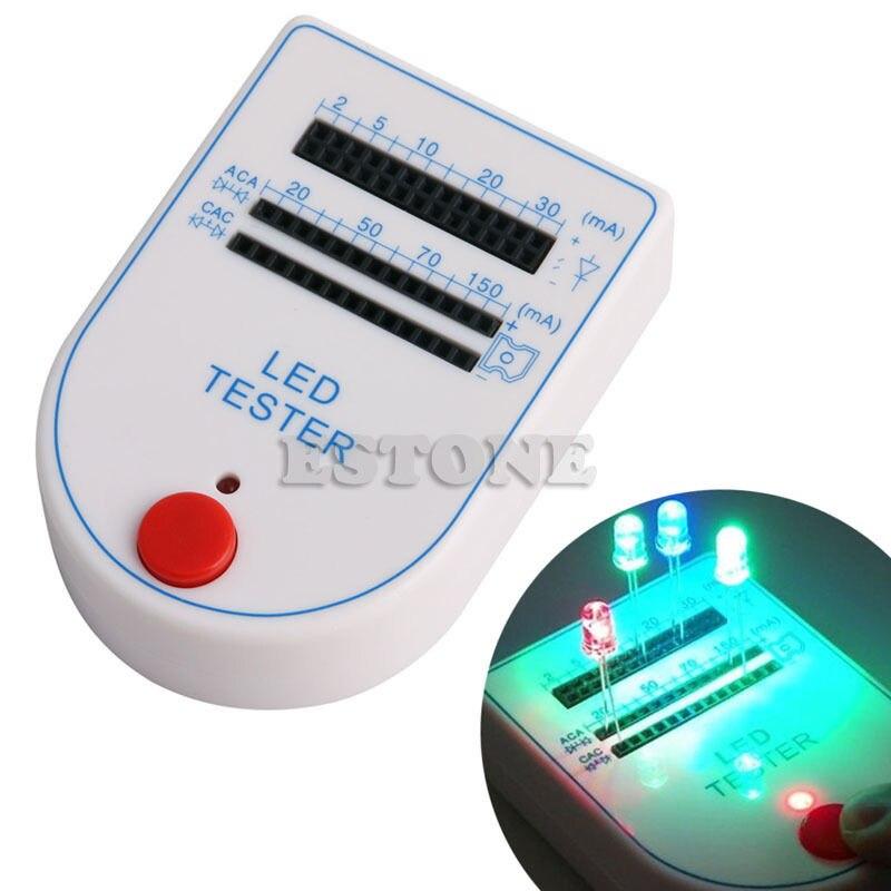 OOTDTY Portable LED Tester Test Box Mini Light-emitting Diode Bulb Lamp 2~150mA