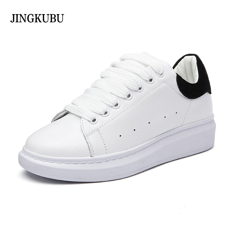 цены Women Oxfords Flats Shoes Leather Lace Up Platform Shoes Woman 2016 Brand Fashion Female Casual White Creepers Shoes Ladies 801