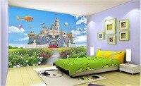 Costumbre mural 3d wallpaper niños habitación princesa castillo decoración del hogar foto de pintura de murales de pared 3d papel tapiz para la pared 3 d