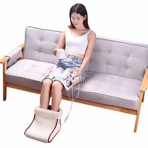 Image 4 - Podgrzewany typ wtyczki elektryczny ciepły ogrzewacz do stóp zmywalne ustawienia sterowania ciepłem cieplejsza poduszka termiczny ogrzewacz do stóp masaż