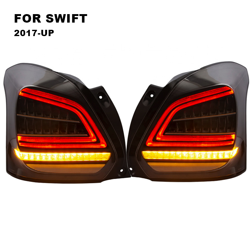 LED Tail Light Assembly for Suzuki Swift 2017 2018 LED Tail Light Reverse Light Sequential Turning Signal Light Rear Fog