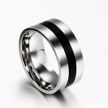 Women Men Simple Wedding Engagement Stainless Steel Finger Ring Band Jewelry