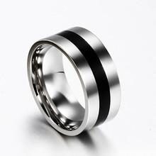 Žene muške jednostavno vjenčanje Engagement od nehrđajućeg čelika prst prsten bend nakit