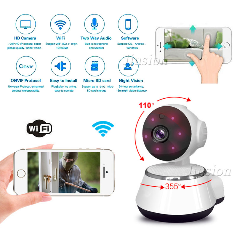 WiFi Mini Nanny Camera IP Cam HD Video Audio Recorder IR Night Vision Motion Sensor Home Remote Baby Pet Monitor Cloud Storage image